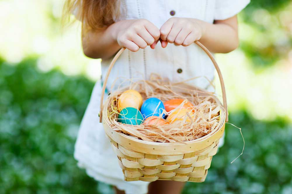 13 ideas to make a healthy easter basket on the table although negle Gallery